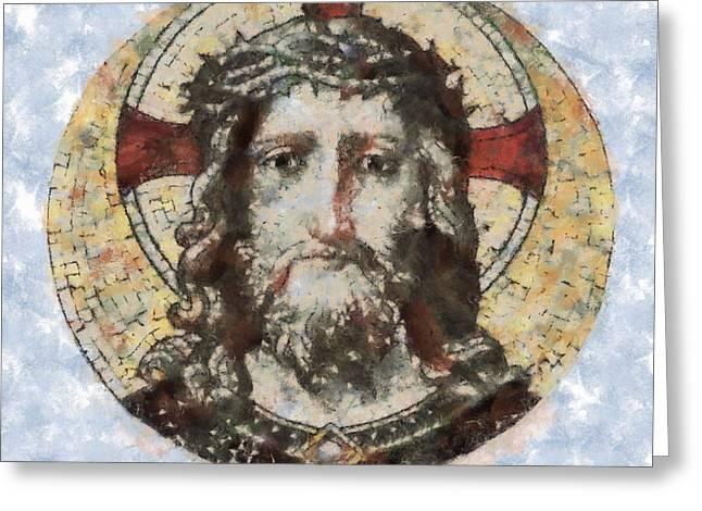 Jesus Christ Greeting Card by Michal Boubin