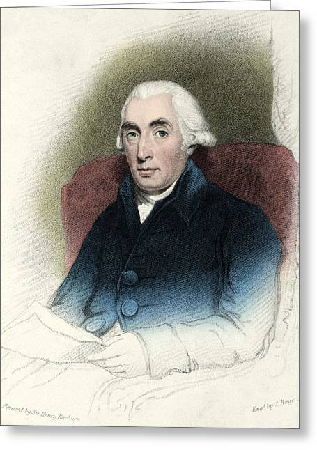 Joseph Black, Scottish Physician Greeting Card by Science Source