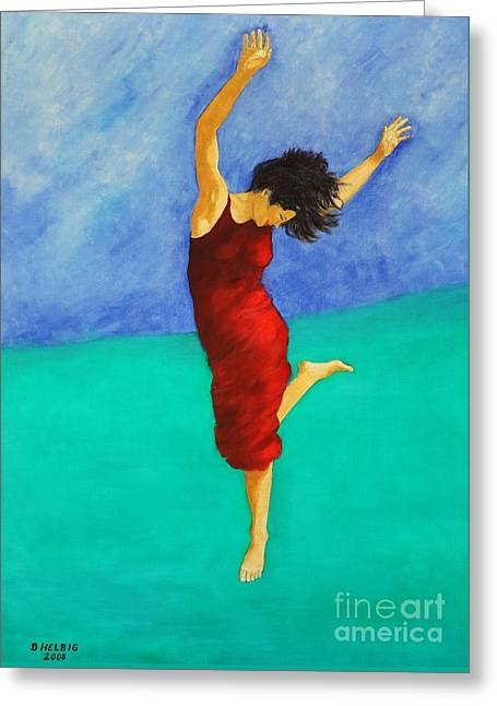 Jump Of Joy Greeting Card by Dagmar Helbig