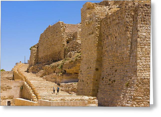 Karak Castle, Jordan Greeting Card by Keren Su