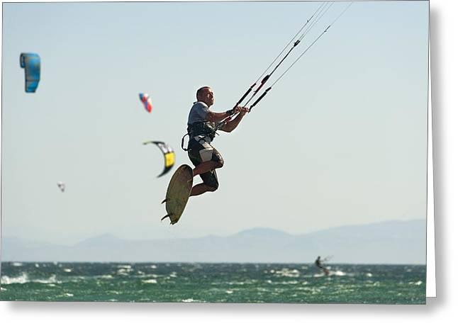 Kitesurfing Tarifa, Cadiz, Andalusia Greeting Card