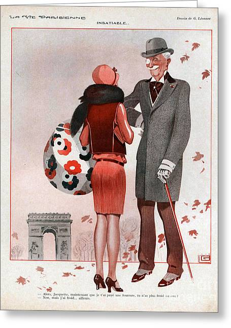 La Vie Parisienne  1928 1920s France Cc Greeting Card by The Advertising Archives