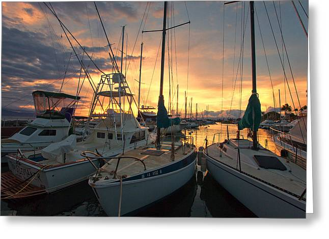 Lahaina Harbor Greeting Card by James Roemmling