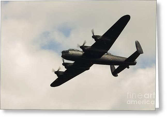 Lancaster Bomber Greeting Card by J Biggadike
