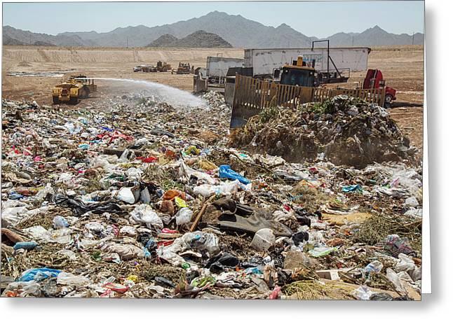 Landfill Waste Disposal Site Greeting Card