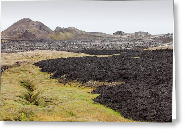 Lava Flow Greeting Card by Ashley Cooper