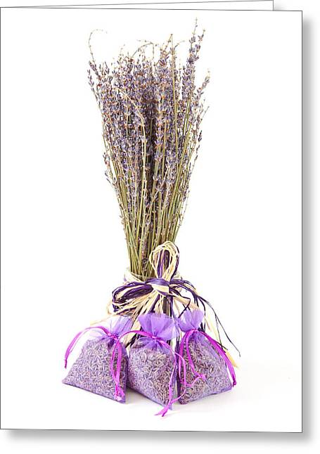 Lavender Greeting Card by Tom Gowanlock
