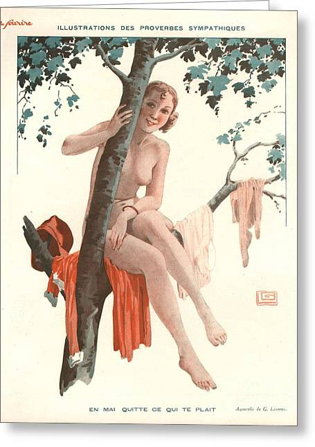 Le Sourire 1920s France Glamour Erotica Greeting Card by The Advertising Archives