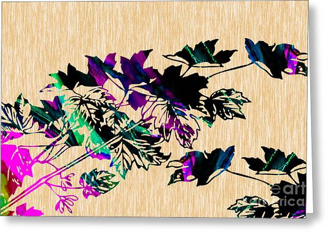 Leaves Painting Greeting Card