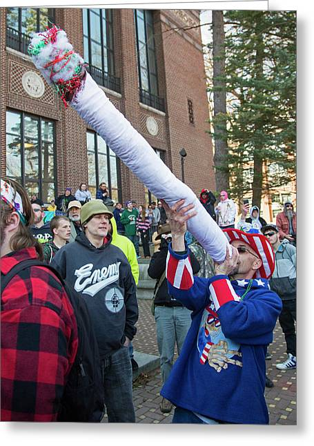 Legalisation Of Marijuana Rally Greeting Card