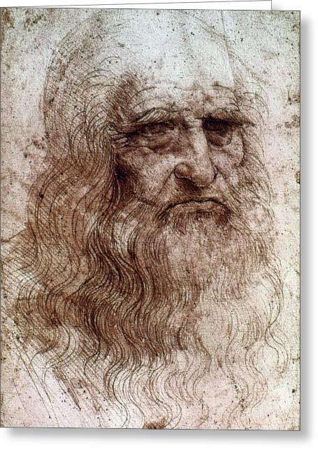 Leonardo Da Vinci (1452-1519) Greeting Card by Granger