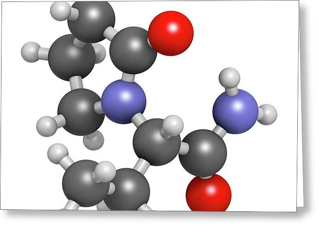 Levetiracetam Epilepsy Drug Molecule Greeting Card