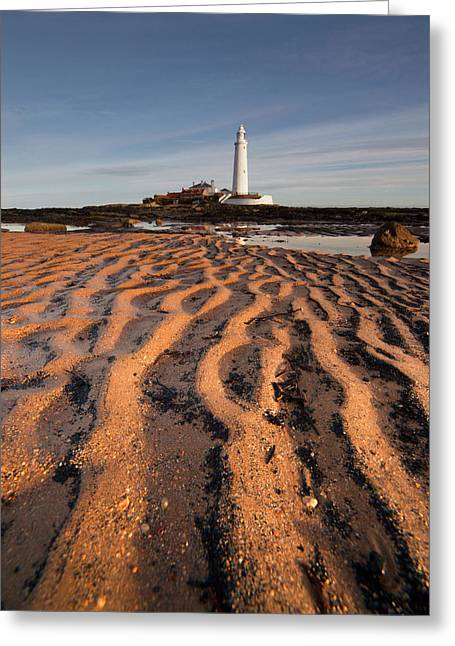 Lighthouse On St. Mary S Island Greeting Card