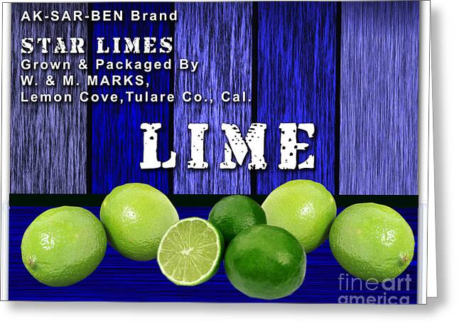 Lime Farm Greeting Card by Marvin Blaine