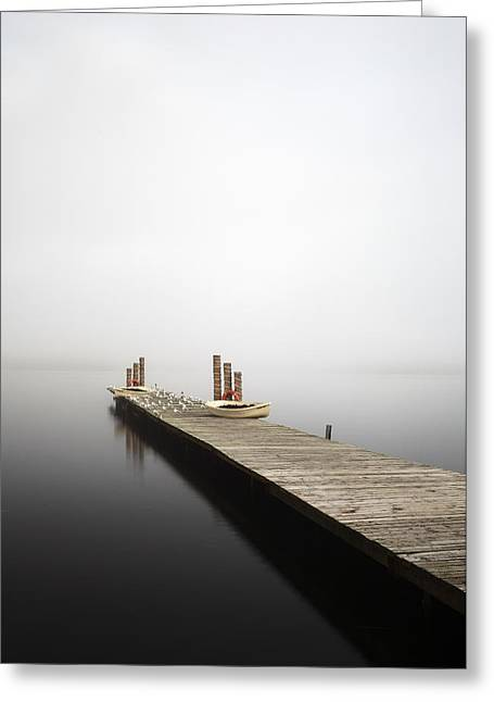 Greeting Card featuring the photograph Loch Lomond Jetty by Grant Glendinning