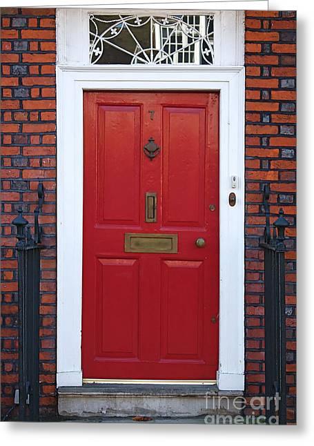 London Doors Greeting Card