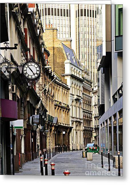 Stones Greeting Cards - London street Greeting Card by Elena Elisseeva
