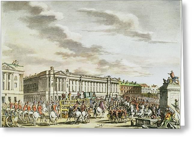 Louis Xvi Execution, 1793 Greeting Card