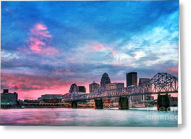 Louisville Kentucky Greeting Card by Darren Fisher
