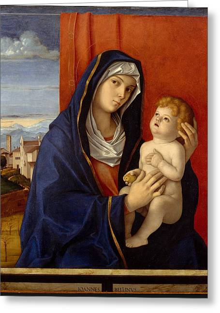 Madonna And Child Greeting Card by Giovanni Bellini