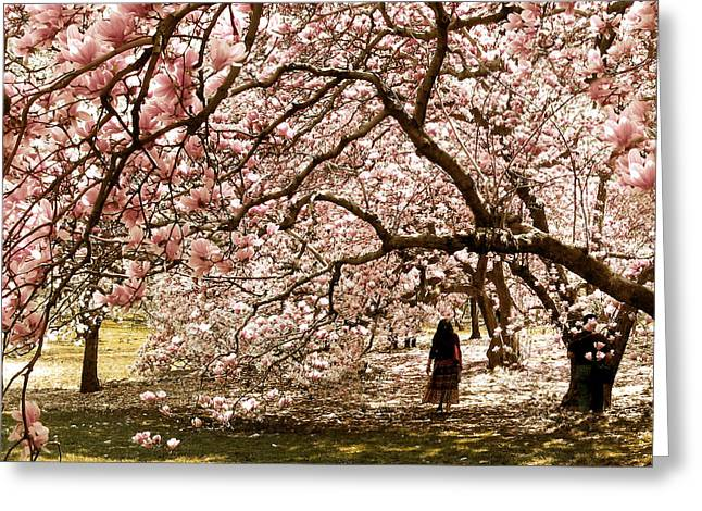 Magnificent Magnolia Greeting Card by Jessica Jenney
