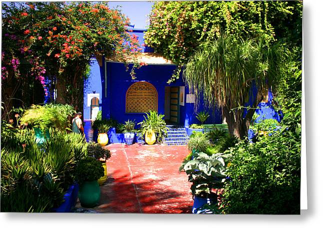 Majorelle Garden Marrakesh Morocco Greeting Card