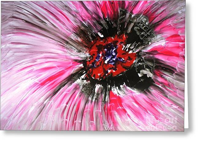 Mannflowers Greeting Card by Baljit Chadha