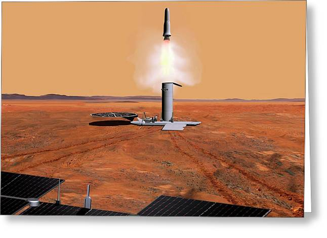 Mars Sample Return Mission Greeting Card by Nasa/jpl-caltech