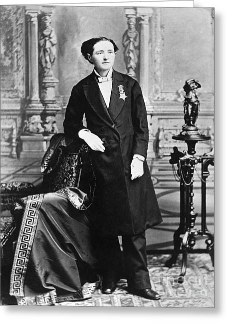Mary Edwards Walker Greeting Card by Granger