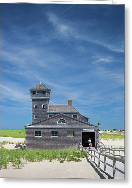 Massachusetts, Cape Cod, Provincetown Greeting Card by Walter Bibikow