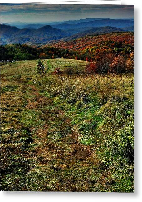 Max Patch Greeting Card by Janice Spivey