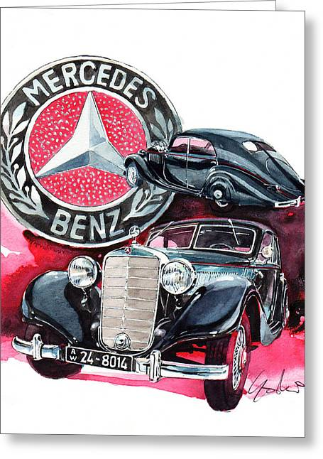 Mercedes Benz 320 Streamline Greeting Card