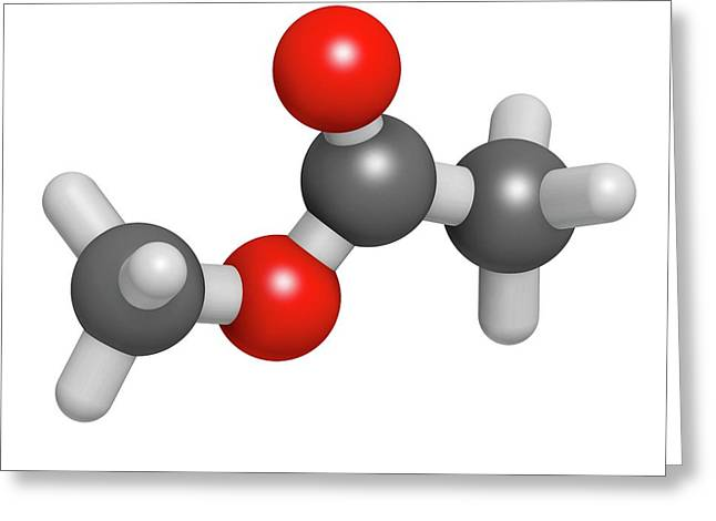 Methyl Acetate Solvent Molecule Greeting Card by Molekuul