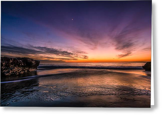 4 Mile Beach Sunset Greeting Card by Linda Villers