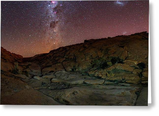 Milky Way Over The Atacama Desert Greeting Card by Babak Tafreshi