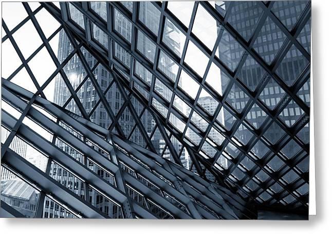 Modern Architecture Greeting Card by Wladimir Bulgar