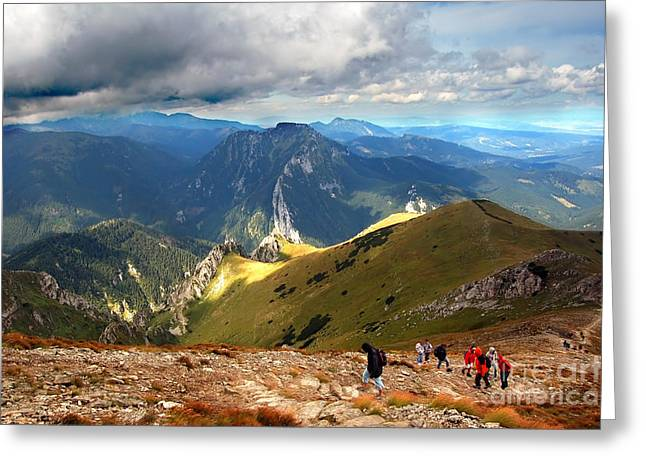 Mountains Stormy Landscape Greeting Card by Michal Bednarek