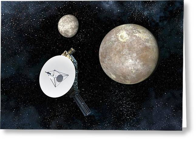 New Horizons At Pluto Greeting Card by Take 27 Ltd
