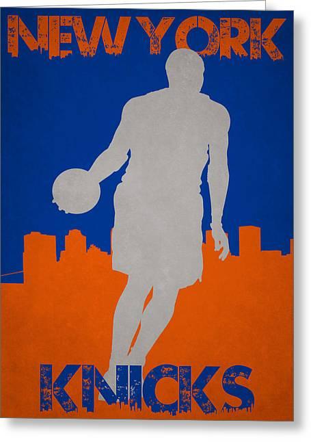 New York Knicks Greeting Card by Joe Hamilton