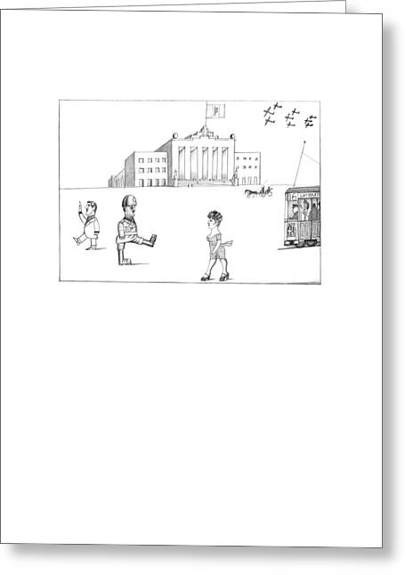 New Yorker October 7th, 1974 Greeting Card by Saul Steinberg