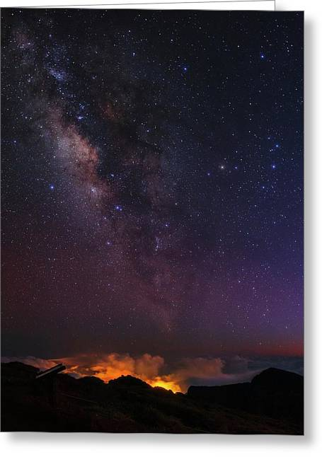 Night Sky Over La Palma Greeting Card by Babak Tafreshi