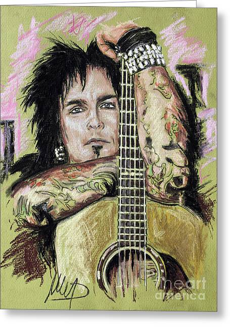 Nikki Sixx Greeting Card