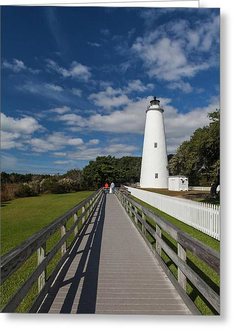 North Carolina, Cape Hatteras National Greeting Card by Walter Bibikow