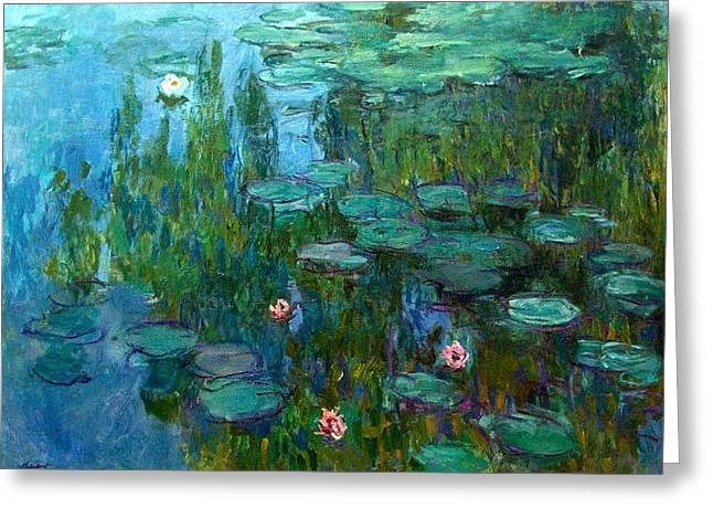 Greeting Card featuring the painting Nympheas  by Claude Monet