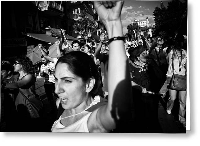Occupy Gezi - Protests Against Turkish Government Greeting Card by Ilker Goksen