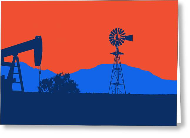 Oklahoma City Thunder Greeting Card by Joe Hamilton