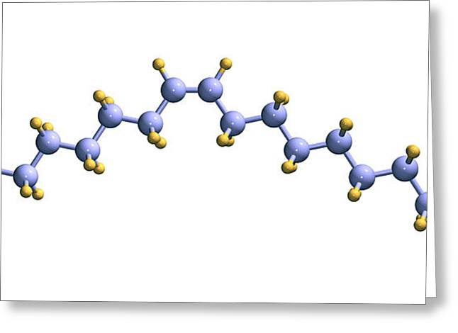 Oleic Acid, Computer Model Greeting Card by Dr. Mark J. Winter