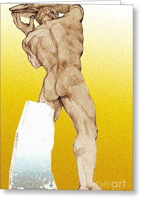 Olympic Athletics Discus Throw Greeting Card