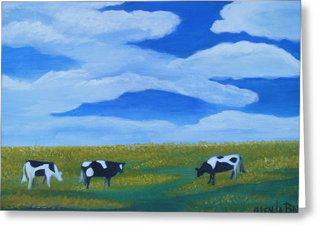 Out To Pasture Greeting Card by Glenda Barrett