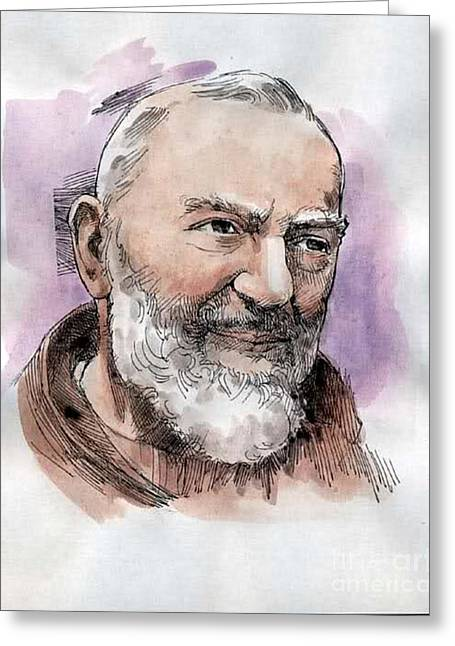Padre Pio Greeting Card by Archangelus Gallery
